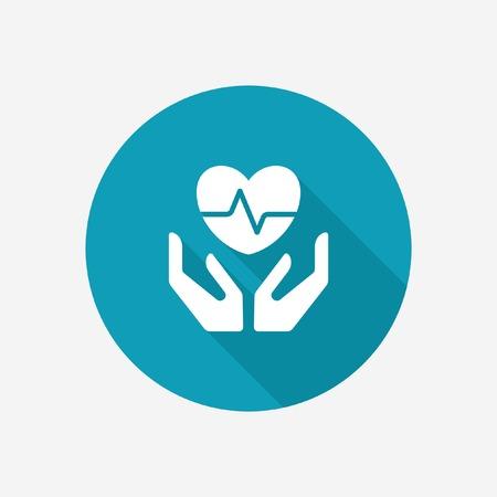 生活と健康保険] アイコン  イラスト・ベクター素材