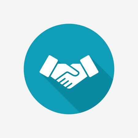 saludo de manos: icono de apret�n de manos Vectores