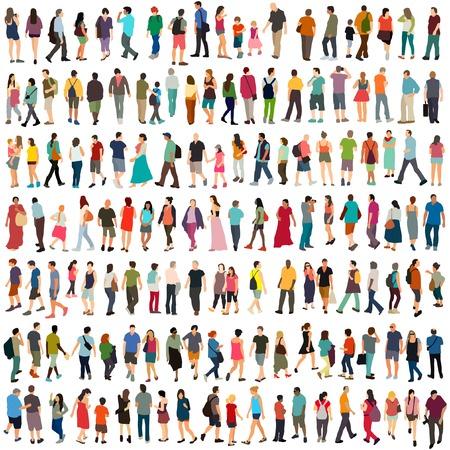 La gente del vector gran conjunto Foto de archivo - 52359022