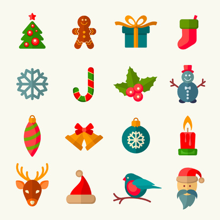 retro christmas: christmas icons