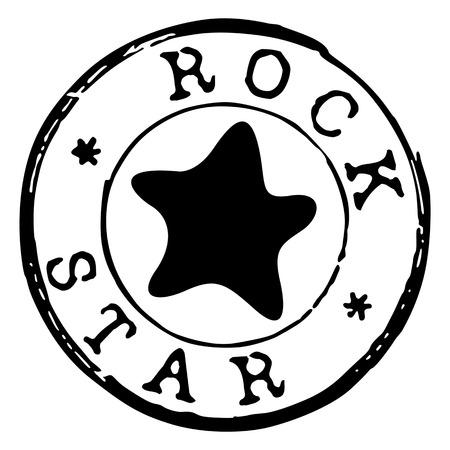hard rock: rock star stamp