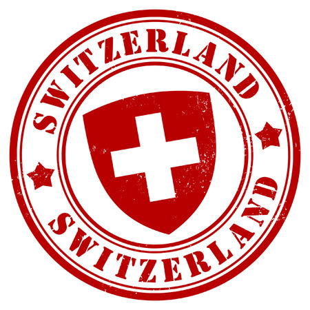 Zwitserland stamp Vector Illustratie