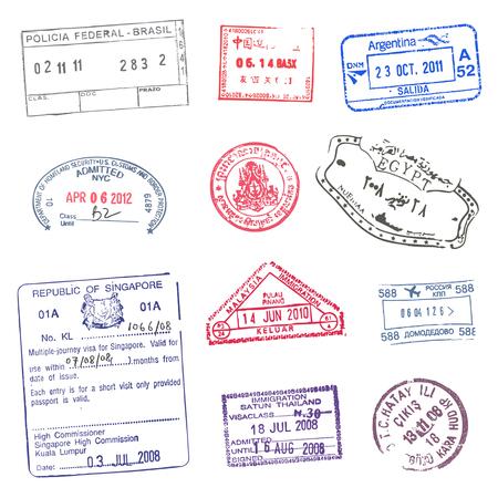 paspoort zegels