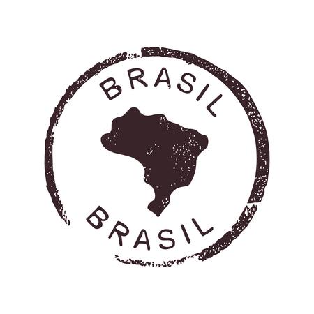 Brasil stamp Vektorové ilustrace