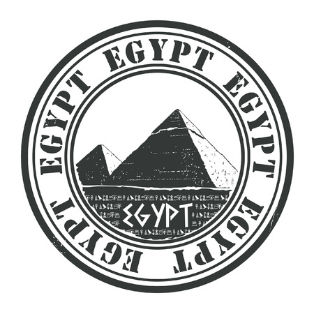 cheops: egypt stamp Illustration