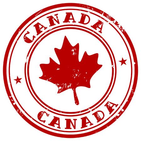 캐나다의 이름으로 스탬프 일러스트