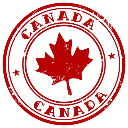 rubber stamp: stamp with name of Canada