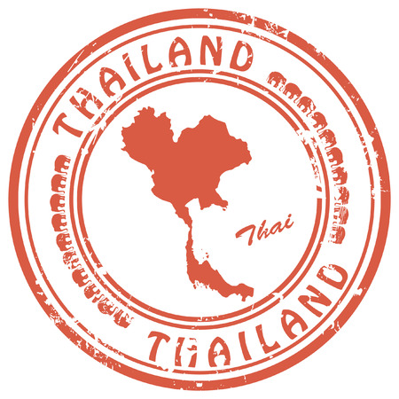 thailand art: stamp with Thailand map
