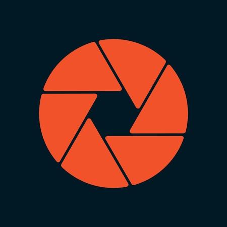 camera lens: aperture icon