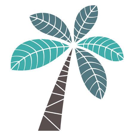 palm leaf: palm tree Illustration