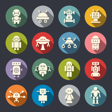 sci fi: robot icons