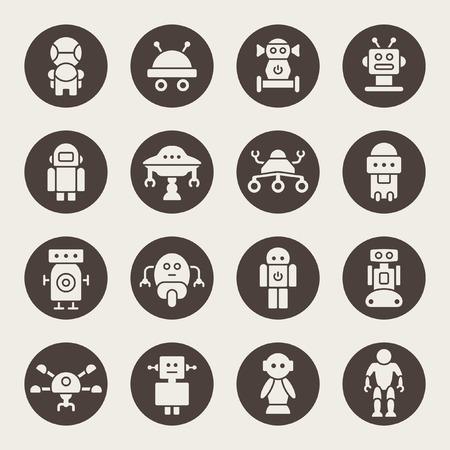 icônes robot Vecteurs