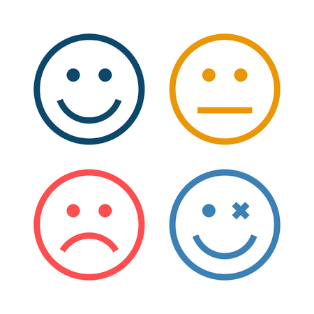4 Smiley Icon Фото со стока - 53709195