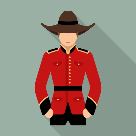 canadian icon: officer canada Illustration