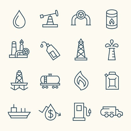 petroleum blue: oil industry icons