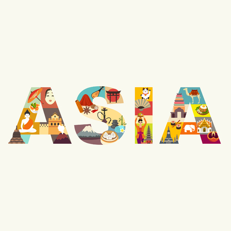 Asia. Travel vector illustration