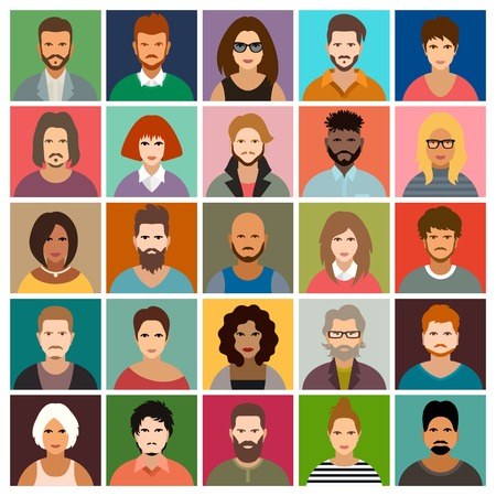 People icon set Иллюстрация