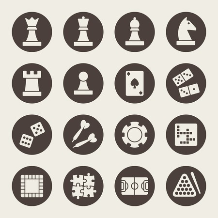 leisure game: game icons Illustration