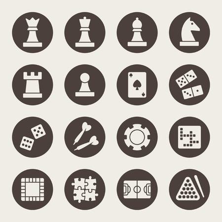 jeu de carte: ic�nes de jeux
