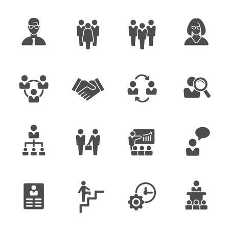 management icons Иллюстрация