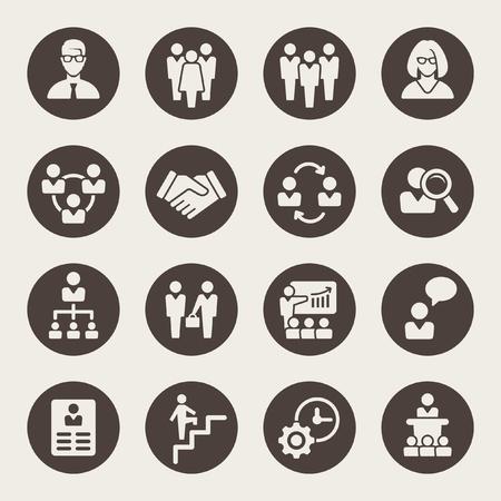 management icons  イラスト・ベクター素材