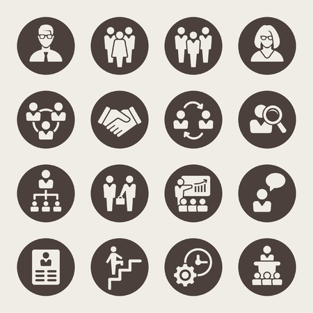 management icons Vettoriali