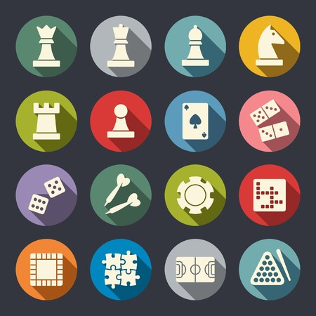 board games: Games icon set Illustration