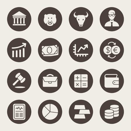 Stock icon uitwisseling set