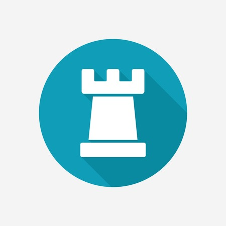 chess rook: Chess rook vector icon. Strategy symbol. Illustration