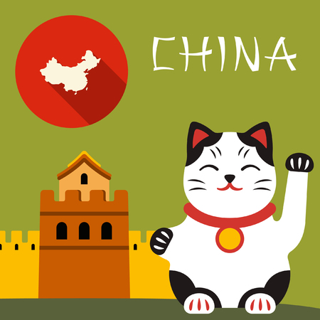 maneki: China travel illustration