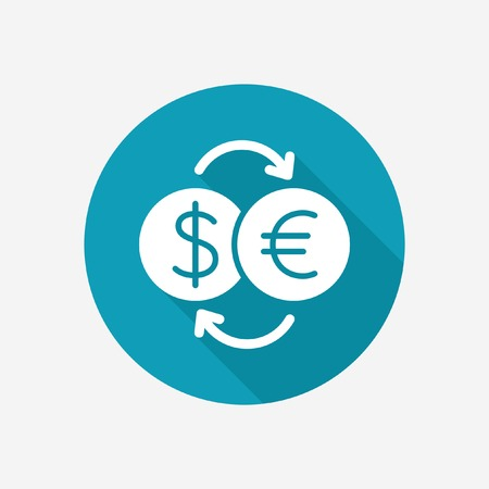 circulate: Currency converter vector icon Illustration