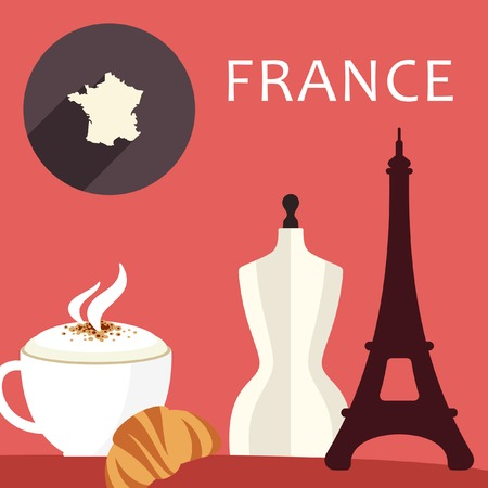frenchman: elements on the theme of France Illustration