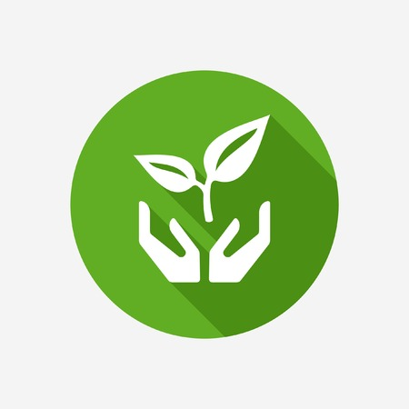 conservation: Plant in Hands vector icon