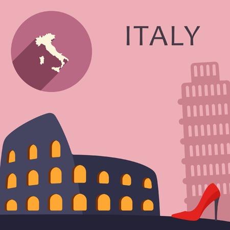 colliseum: Italy travel illustration