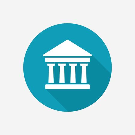 blue icon: Ancient temple vector icon Illustration