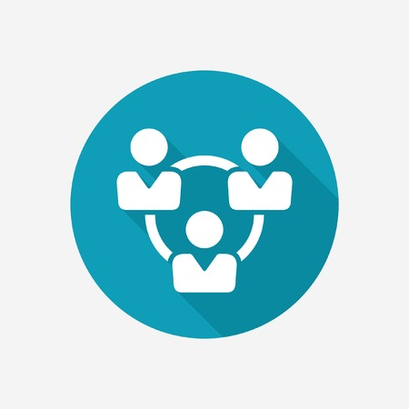 three persons: Teamwork vector icon Illustration
