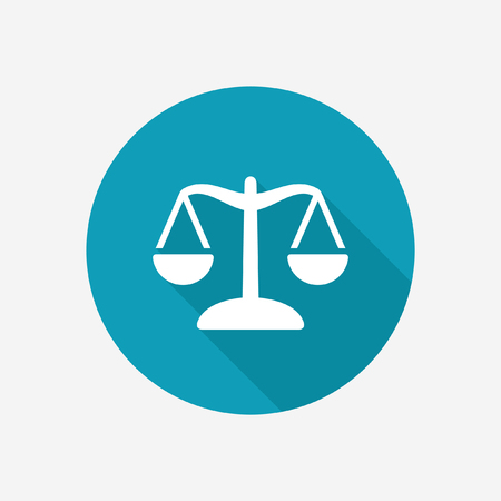 acquittal: Justice scale vector icon