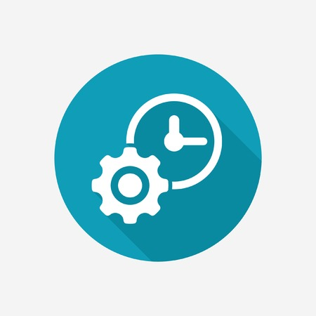illustration isolated: Time management vector icon Illustration