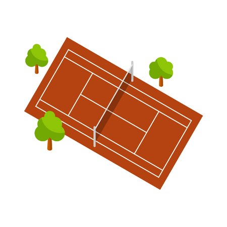 synthetic court: Tennis court