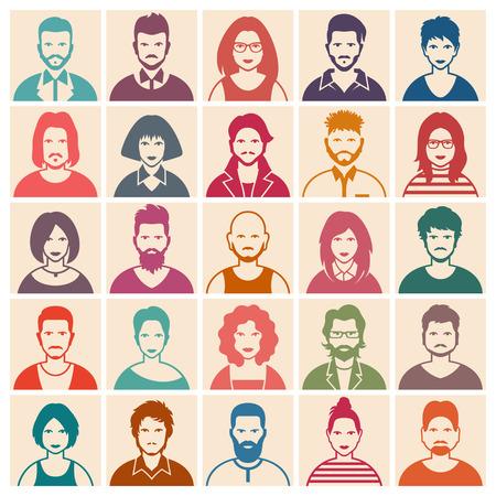People icon set Vettoriali