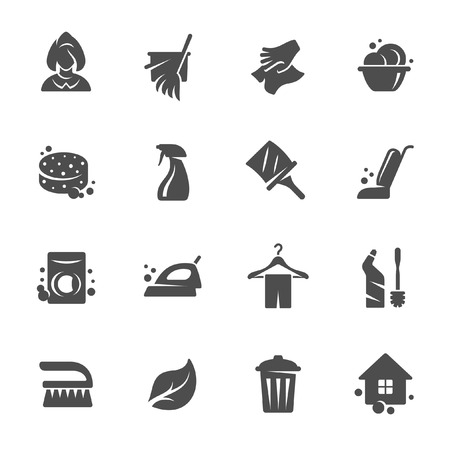 wipe: Cleaning service  icon set