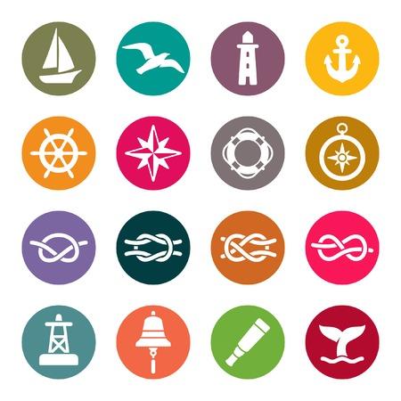 nudos: conjunto de iconos náutica