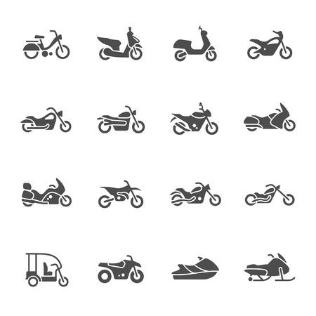 motorbike: Motorcycle vector icon set