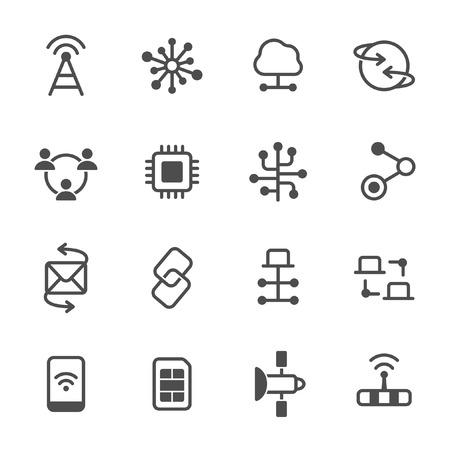 Connection icon set Ilustração Vetorial
