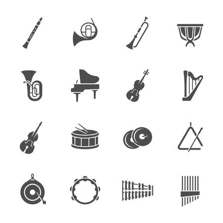 Instruments de musique icônes Banque d'images - 98262483