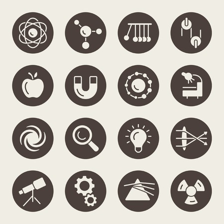 Physics icons Vectores