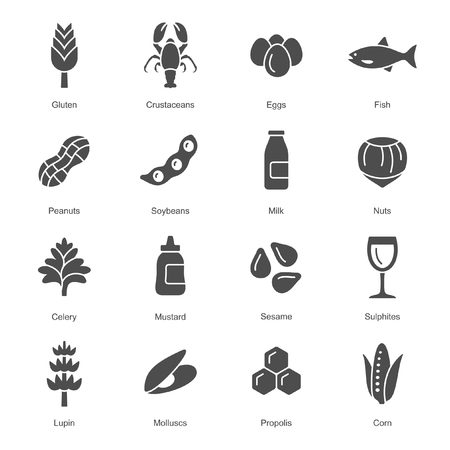 Allergens icon set
