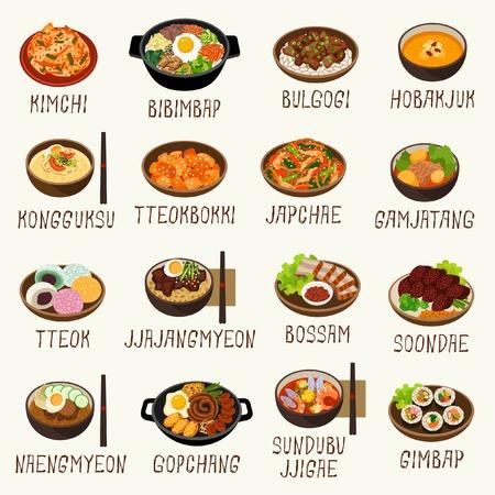 Korean food  イラスト・ベクター素材