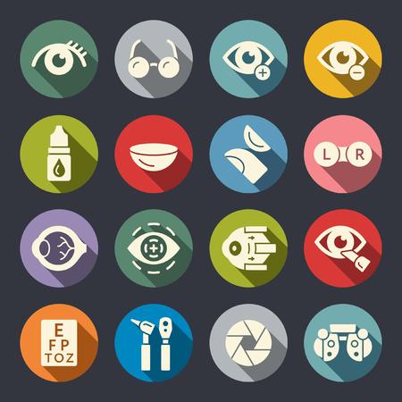 Ophthalmology flat icons
