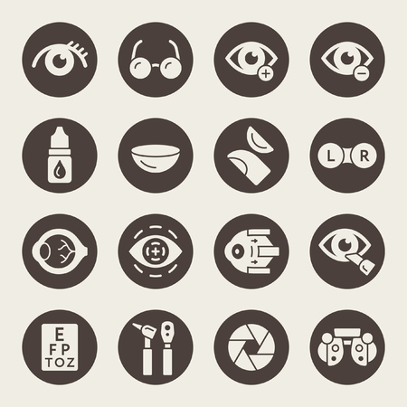 Ophthalmology icons